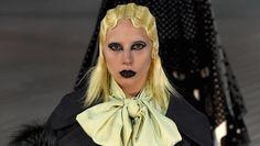 Lady Gaga walks in #NYFW