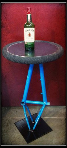 bicycle frame cocktail table,  one of a kind,  bmx
