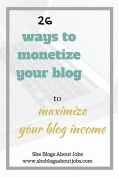 Learn how to make money blogging. This article is packed with blog income ideas that you can implement easily