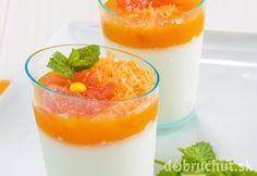 Vanilkový parfai s pomarančami Fruit Shakes, Panna Cotta, Ethnic Recipes, Food, Fruit Smoothies, Dulce De Leche, Essen, Meals, Yemek