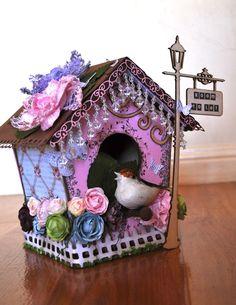 purple bird houses - Google Search