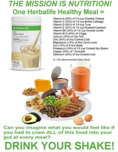 NOTE! In ONE Herbalife Healthy Meal Formula 1 Shake you'll get the HIGHEST DENSITY of Nutrients within the LOWEST QUANTITY of CALORIES (about 210- 220 Cal. depending on how you prepare your Shake).
