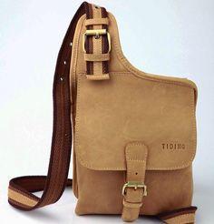 Vintage New Style Men's Leather Shoulder Sling Bags Backpack Case Messenger Bag
