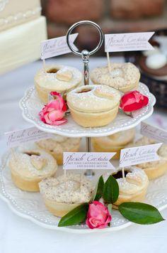 mini pies http://www.weddingchicks.com/2013/10/24/pastel-wedding-inspiration/
