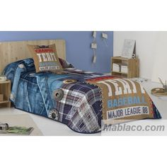 Major League, Comforters, Blanket, Bed, Home, Quilts, Colors, Creature Comforts, Stream Bed