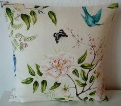"Zoffany ROMEY'S GARDEN fabric cushion cover, pillow cover, 16"" x 16"" (41cm x 41cm)"