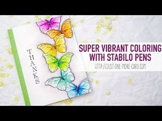 Coloring With Stabilo Pens Introduction - YouTube