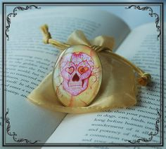 Pink Sugar Skull Ring £14.99 Wearable Art By Octavia's Tattoos