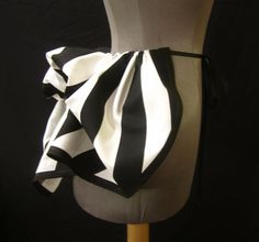 Add a Bustle Skirt by LoriAnn - Mini Black and White Stripe Canvas - Ready to Mail. $34.99, via Etsy.