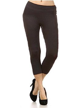 1a8492f8cfe2a Women's Solid Brown Plus Size Capri Leggings at Amazon Women's Clothing  store: