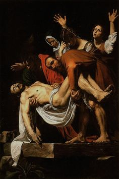 """""""Entombment"""" -- 1602-03 --- Caravaggio -- Italian -- Oil on canvas -- Belonging to the Vatican Museums -- Vatican City"""