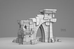 These are some examples of the ruins asset system my colleague and I used for our bachelor's thesis. We had about three months for the project, so our goal was to achieve as much variation as possible with a pretty small amount of assets. I modelled Game Environment, Environment Concept Art, Environment Design, Maya Modeling, Modeling Tips, 3d Design, Game Design, Low Poly Games, 3d Mesh