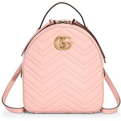 2ad9cea7dbc gg marmont chevron quilted leather mini backpack by Gucci. The GG Marmont  backpack has a softly structured shape and Double G hardware
