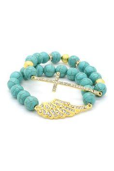 Angel Cross Bracelet Set