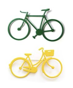 bicycle brooches for the guys? could look cool on their suits.