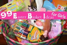 Looking for Easter basket ideas for girls? Choose from 99 ideas, divided by age groups...