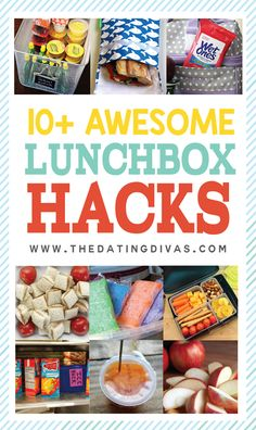 Holy cow these are awesome! 10+ helpful lunchbox hacks! These are going to save me this year! www.TheDatingDivas.com