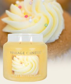 Sweet Buttercream-Premium Round Scented Candles | Village Candle