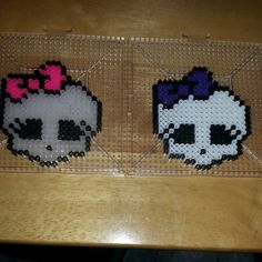 Monster High skulls perler beads by gen_tzu
