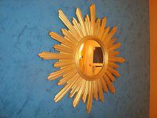 215. Italian sunburst mirror - gild resin - vintage 60-70 - miroir soleil