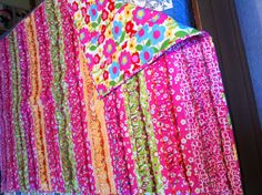 Serger Ruffle Quilt - For this serger quilt we used 4 different ... : quilting with a serger - Adamdwight.com