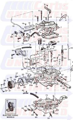 Fig 11: Exploded view of the Rochester E4ME carburetor | Diagrams | Truck repair, Engine repair