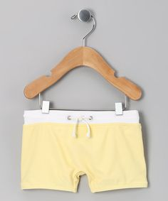 Take a look at this Lemonade Swim Shorts - Infant by Blow-Out on #zulily today! #fall