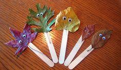 leaf creatures kids craft. Leaf activity, leaf craft, fall craft. activity formApologia Botany #homeschool