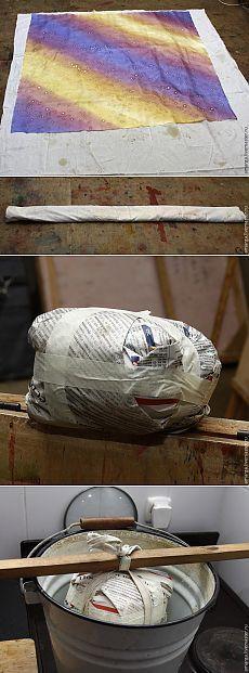 Закрепляем краски — запариваем батик в обычном ведре - Ярмарка Мастеров - ручная работа, handmade