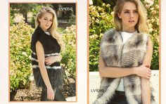 Left Look 3: Directional Faux Fur Vest // Right Look 4: Striped Faux  Fur Vest #fw2015 #lookbook #cluce