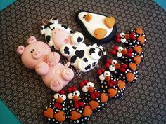 Imã Porco,vaca,pinguim e galinhas | by Sonho Doce Biscuit *Vania.Luzz*