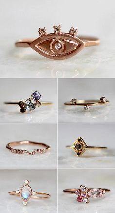 Pretty rings from Love, Liesel, sister company of Liesel Love, run by New Jersey's Heidi Girard.