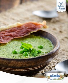 Fresh summer peas make for the best fresh summer soup.