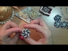 YouTube Beading Tutorials, Beading Patterns, Beaded Earrings, Beaded Jewelry, Bead Sewing, Beads And Wire, Crystal Beads, Creations, Crafts