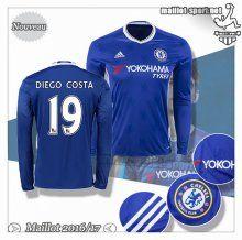 Maillots-Sport: Le Meilleur Du Nouveau Maillot Chelsea Manche Longue Diego Costa 19 Domicile 2016 2017