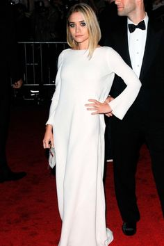 Ashley Olsen dressed her diminutive frame in an all-white gown from her own label, The Row, for the Met Ball red carpet. (2009)