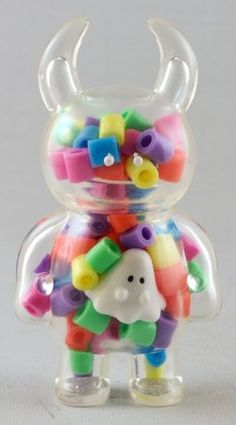 Uamou - Oops I Ate Boo - Clear with multi coloured beads figure by Ayako Takagi, produced by Uamou. 3d Character, Character Concept, Character Design, Vinyl Toys, Vinyl Art, Art Jouet, Weird Furniture, Japanese Toys, Modelos 3d