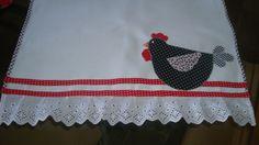 Pano de prato - galinha pintadinha