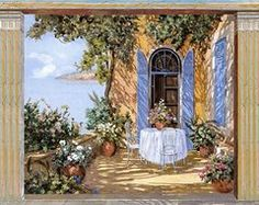 Guido Borelli Art - Le Porte Blu by Guido Borelli