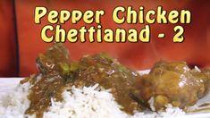 Spicy Chettinad  pepper Chicken - Chicken Masala gravy recipe Pepper Chicken, Chicken Stuffed Peppers, Fun Recipes, Indian Food Recipes, Chicken Masala, Indian Chicken, Gravy, Spicy, Good Food