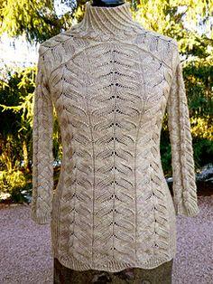 Dieser Pullover dankt seinen Namen der DyeForYarn Rose of Jericho Färbung.