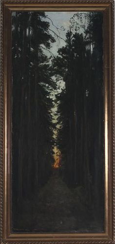 Thorolf Holmboe (1866-1935): The Path (1894).  This symbolist painting reflects the early career of Holmboe.  Later on he became lighter and more commercial - some say due to his very expensive wife.