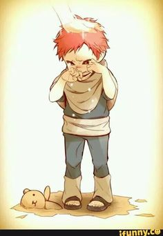 Baby Gaara.. I just want to hug him and tell him that everything will be fine. :(