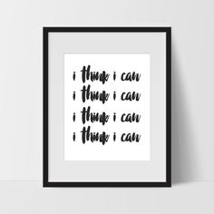 This I Think I Can Motivational Wall Art in White makes great minimalist wall art. This print could also be used in the home, bedroom, dorm, nursery or office. The possibilities are endless. Motivational Wall Art, Wall Art Quotes, Minimalist Bedroom, Minimalist Home, Train Bedroom, Train Nursery, Dorm Room Art, Modern Bathroom Decor, Wall Art Pictures