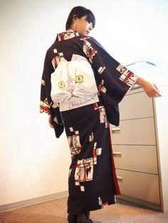 Meaw meaw look on blog, ModeAppetite   にゃんにゃんコーデon BLOG  #fashion #japanese #kimono #ootd #look #cat #catstagram #cataholic #着物 #着物コーデ #ハイカロリイオトメ #CHOKO #にゃんにゃんにゃんの日 #猫の日 #ねこ #ねこさま