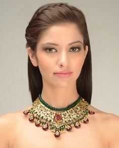 Rani Padmini Kundan Necklace by Just Jewellery