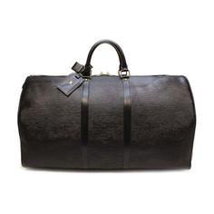 Louis Vuitton Keepall 55 Epi Luggage Black Leather M42952
