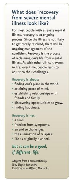 Understanding mental illness recovery | PsychHealth
