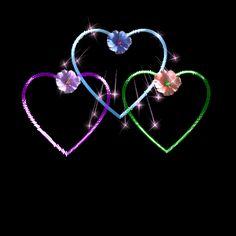 Lindos Corações Fundo Escuro