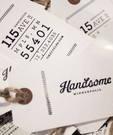 Handsome logo - tags designed by Knock